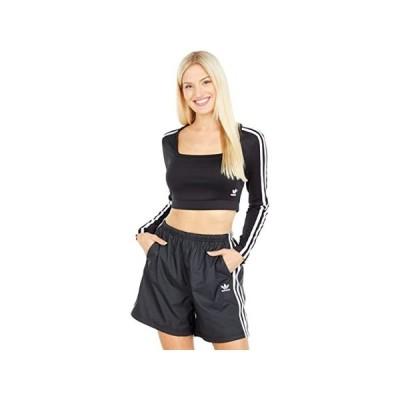 (取寄)アディダス オリジナルス レディース 3ストライプ ロング スリーブ ティー adidas Originals Women's 3-Stripes Long Sleeve Tee Black 3