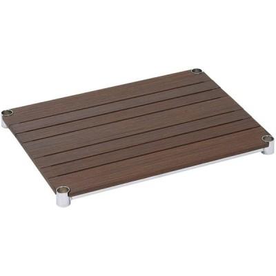 [WS6045-BR]棚板 ウッドシェルフ スチールシェルフ幅61cm奥行46cm(スリーブ別売)【ポール径25mm】ブラウン