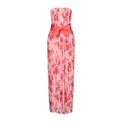 ACCESS FASHION ロングワンピース&ドレス ピンク S ポリエステル 100% ロングワンピース&ドレス