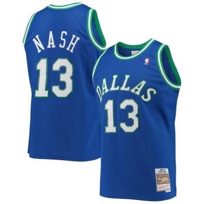 ミッチェル&ネス ユニフォーム トップス メンズ Steve Nash Dallas Mavericks Mitchell & Ness Hardwood Classics Swingman Jersey Blue