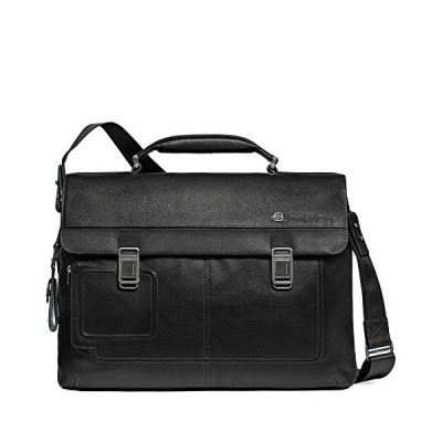 Piquadro Computer Briefcase with Two Closures, Black, One Size 並行輸入品