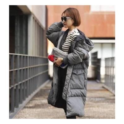 ダウンコート コート ダウン ダウンジャケット レディース ロング きれいめ 40代 大きいサイズ 秋冬 冬 フード付き 暖かい 防寒 膝下丈 着やせ 20代 30代 50代