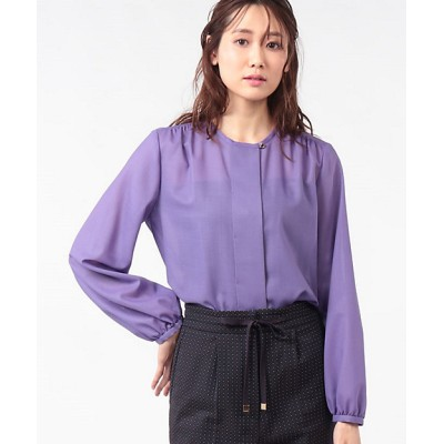 <OLD ENGLAND(Women)/オールドイングランド> マナードボイルシャツ パープル【三越伊勢丹/公式】