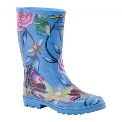 アヌシュカ Anuschka レディース レインシューズ・長靴 シューズ・靴 Mid-Calf Rain Boot Roses D'Amour Printed Rubber