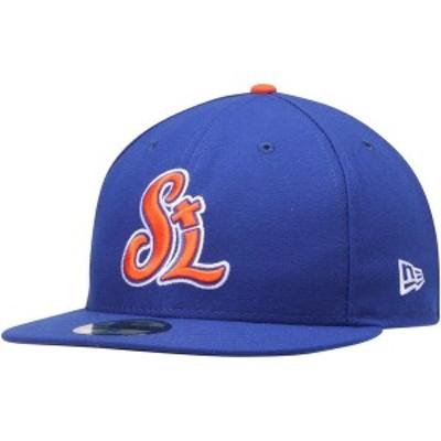 ニューエラ メンズ 帽子 アクセサリー St. Lucie Mets New Era Authentic Road 59FIFTY Fitted Hat Royal