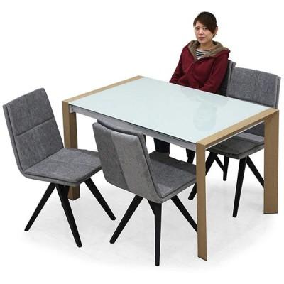 ガラス ダイニングテーブル テーブル単体 長方形 幅130 強化ガラス