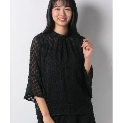 ANAYI/アナイ ラメカットジャガードスタンドブラウス ブラック5 36