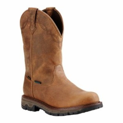 アリアト レインシューズ・長靴 Conquest Round Toe H2O Insulated 400G Cowboy Boot Rye Brown Waterproof Full Grain Le