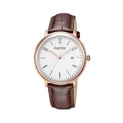 Fantor 腕時計メンズ シンプル 日本製ムーブメント 極薄型 シンプル クォーツ時計 WF1005G05