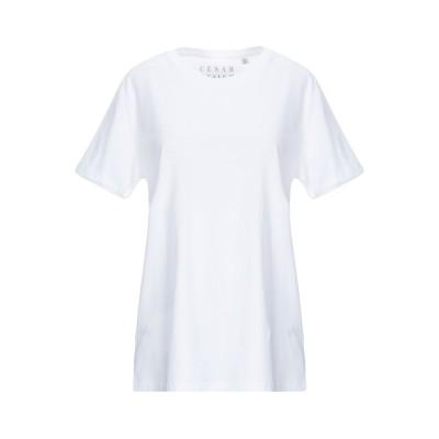 CESAR CASIER T シャツ ホワイト S オーガニックコットン 100% T シャツ
