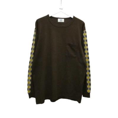 【12月17日値下】kuon 長袖Tシャツ ブラウン サイズ:L (堅田店)