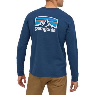 パタゴニア メンズ Tシャツ トップス Patagonia Men's Fitz Roy Horizons Responsibili-Tee Long Sleeve T-Shirt