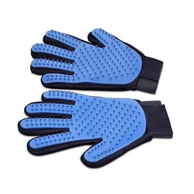 Tensun ペット ブラシ 手袋 グローブ 犬と猫に使える お手入れ 抜け毛 ペット用ブラシ 右手+左手セット