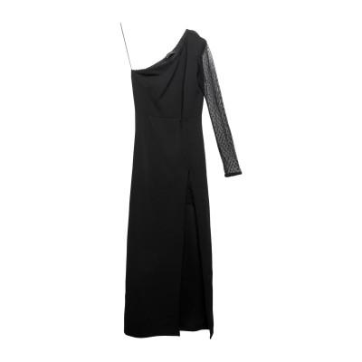 MANGANO ロングワンピース&ドレス ブラック L ポリエステル 95% / ポリウレタン 5% / ナイロン ロングワンピース&ドレス
