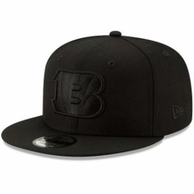 New Era ニュー エラ スポーツ用品  New Era Cincinnati Bengals Black Black On Black 9FIFTY Adjustable Hat