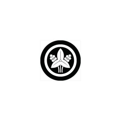 家紋シール 丸に沢潟紋 直径4cm 丸型 白紋 4枚セット KS44M-0677W