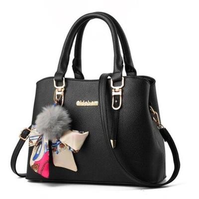 Yogodlns 新エレガントな女性のショルダーバッグミディアムハンドバッグ女性のメッセンジャー Black 23x13x23cm