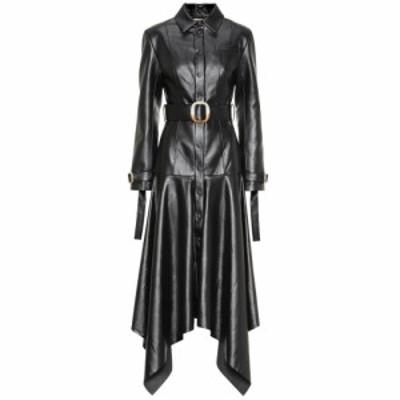 マテリエルティビリシ Materiel Tbilisi レディース ワンピース ワンピース・ドレス Faux leather dress black
