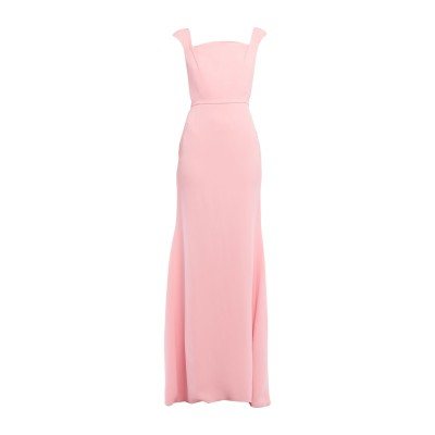 ローラン ムレ ROLAND MOURET ロングワンピース&ドレス ピンク 12 レーヨン 50% / アセテート 47% / ポリウレタン 3%