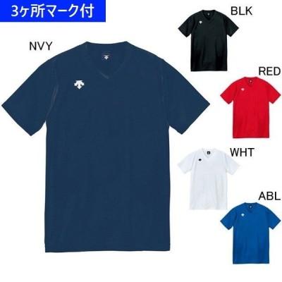 デサント ユニフォーム 半袖ゲームシャツ(ジュニア対応) DSS-4321/マーク付き