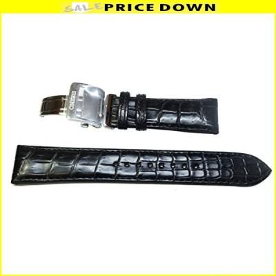 〔セイコー〕SEIKO 20mm 時計バンド メカニカル プレザージュ純正ベルト クロコダイル 黒 SARD005 SARD009 純正 L07Y017J9