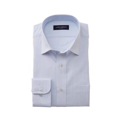 形態安定。吸汗速乾長袖ワイシャツ(セミワイドカラ―)(標準シルエット) (ワイシャツ)Shirts, テレワーク, 在宅, リモート