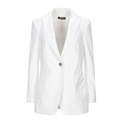 SOALLURE テーラードジャケット ホワイト 44 ナイロン 87% / ポリウレタン 13% テーラードジャケット