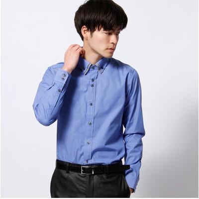 ダブルカラードレスシャツ