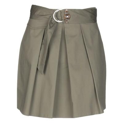 リュー ジョー LIU •JO ミニスカート ミリタリーグリーン 40 コットン 98% / ポリウレタン 2% ミニスカート