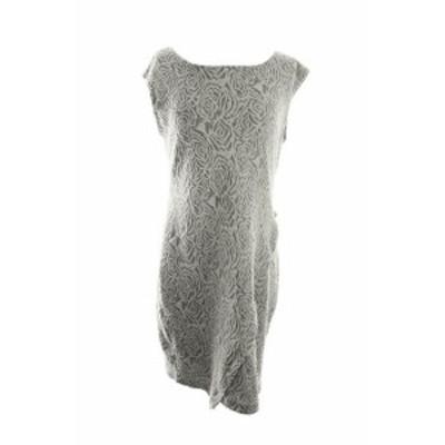 Shift  ファッション ドレス Kiind Of New Grey Sleeveless Lace Envelope Shift Dress M