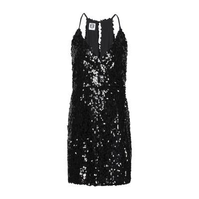 8 by YOOX ミニワンピース&ドレス ブラック 38 ポリエステル 100% ミニワンピース&ドレス