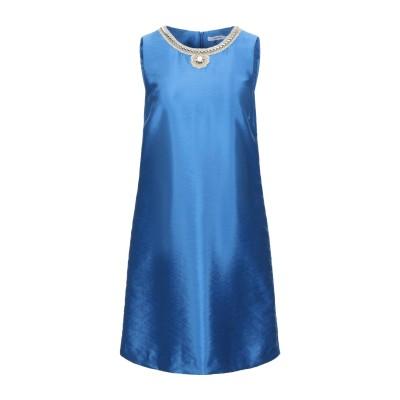 LANACAPRINA ミニワンピース&ドレス ブライトブルー 42 レーヨン 53% / ポリエステル 32% / ナイロン 15% ミニワンピー