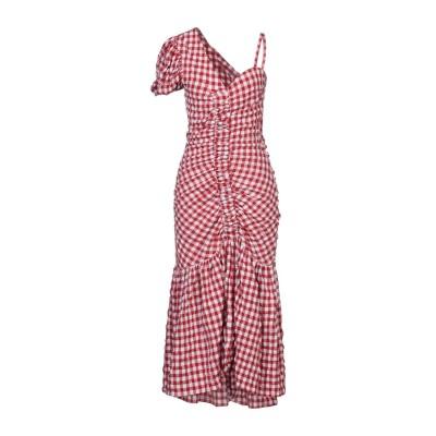 WEILI ZHENG 7分丈ワンピース・ドレス レッド S コットン 95% / ポリウレタン 5% 7分丈ワンピース・ドレス