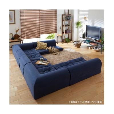 【日本製】ふわふわクッションのコーナーローソファー3点セット ソファー, Sofas(ニッセン、nissen)