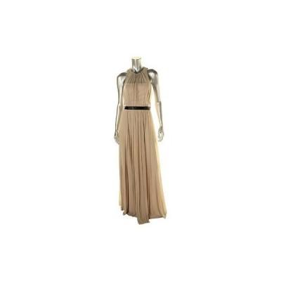 ドレス ワンピース ABS Collection ABS コレクション 9459 レディース Pleated Chiffon ノースリーブ Evening ドレス BHFO