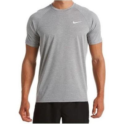 ナイキ Nike メンズ ラッシュガード ドライフィット 水着・ビーチウェア Hydroguard Dri-FIT Stretch UPF 40+ Heather Rash Guard Particle Grey