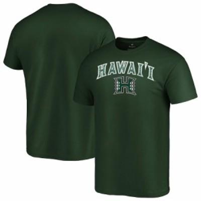 """メンズ Tシャツ """"Hawaii Warriors"""" Campus T-Shirt - Green"""
