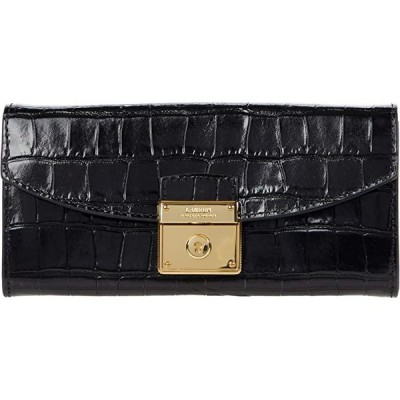 LAUREN Ralph Lauren Lock Continental Wallet レディース 財布 Black