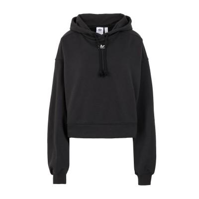 ADIDAS ORIGINALS スウェットシャツ ブラック 32 コットン 70% / リサイクルポリエステル 30% スウェットシャツ