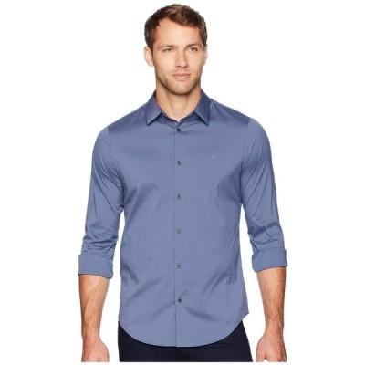 カルバンクライン Calvin Klein メンズ シャツ トップス The Stretch-Cotton Shirt Vintage Indigo