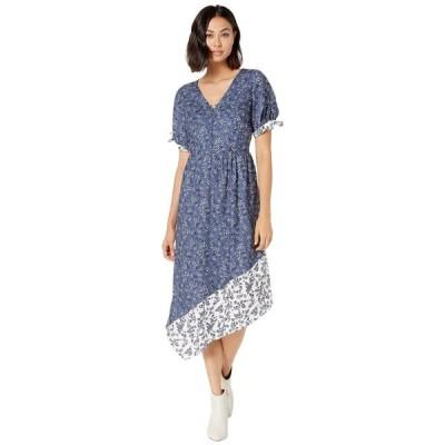 ケンジー kensie レディース ワンピース ワンピース・ドレス Nostalgic Blooms Short Sleeve Dress KS8K8382 Blue Indigo Combo