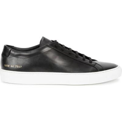 コモン プロジェクト Common Projects メンズ スニーカー シューズ・靴 Achilles black leather sneakers Black