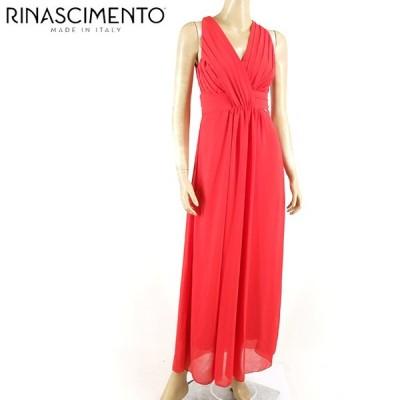 リナシメント(RINASCIMENTO)レディース ドレス レッド系  背中にレース使い 背中開き イタリア製 (サイズ/S)*rc4805