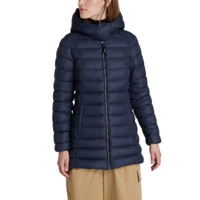 ウールリッチ WOOLRICH レディース ダウン・中綿ジャケット フード アウター Hooded Puffer Coat Melton Blue