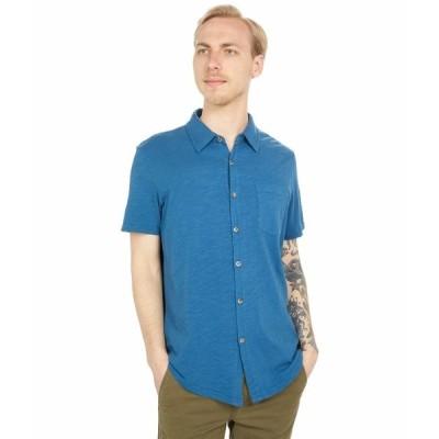 モッドドック シャツ トップス メンズ Montana Short Sleeve Button Front Shirt Quiet Teal
