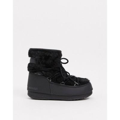 ムーンブーツ Moon Boot レディース ブーツ シューズ・靴 fluffy low snowboots in black ブラック