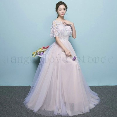 パーティードレス レディース ロング丈 ドレス 結婚式 ワンピース ウエディングドレス フォーマル ドレス お呼ばれ 結婚式 ドレス 二次会