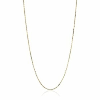 """10k Yellow Gold 18"""" Diamond Cut Cable Chain Necklace"""