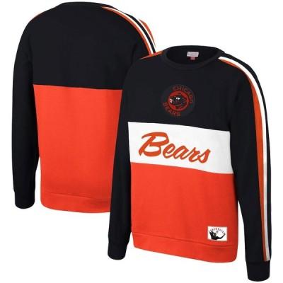 """ミッチェル&ネス メンズ スウェットシャツ """"Chicago Bears"""" Mitchell & Ness Throwback Leading Scorer Fleece Crew Sweatshirt - Navy"""