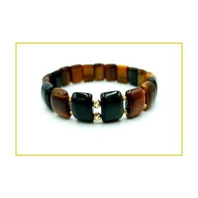 GOLD Bracelets/Bracelet in 14kt Yellow SOLID GOLD/Beaded Bracelets/Gold and Tiger Eye Natural Stones Bracelet/Perfect Gift for Womens&Mens